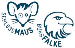 Bestehendes Logo Schlossmaus und Burgfalke (erstellt v. Bernet & Schönenberger - Zürich)